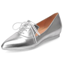 Patent Leather Pointed Toe Strappy Loafers