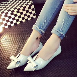 Sweet Bowknot Pointed Toe Flats
