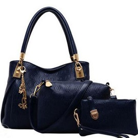Classy Three-piece Bag Set with Metal Decorated