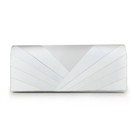 Solid Color Velour Pleated Clutch