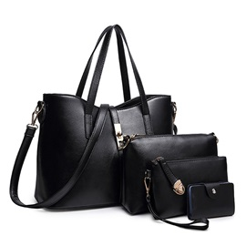 High Quality Zipper Solid Bag Set for Women(4 pieces)