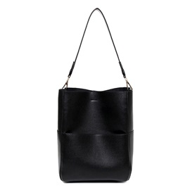 Simple Pure Color Large Capacity Women Tote
