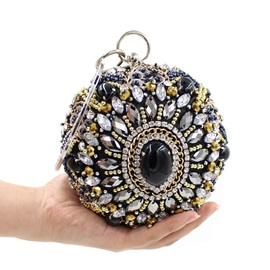 Round Shaped Beads Decorated Women's Clutch