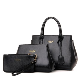 Solid Pure Color Women's Bag Set ( Three Bags )
