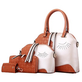 Chic Pattern Printed Women's Bag Set ( Four Bags )