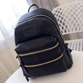 Casual Style Double-zipper Women's Backpack