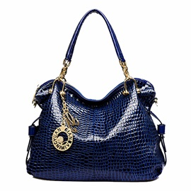 Euramerican Croco-embossed with Pendant Women's Tote Bag