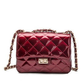 Plaid Pattern Embossing Pure Color Women's Crossbody Bag