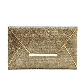Openhanded Paillette Letter Style Clutch Bag