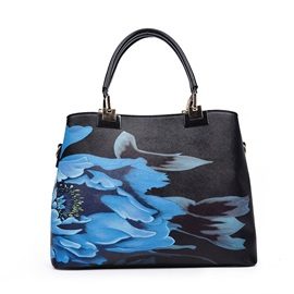 Chinese Style Blossom Pattern Satchel
