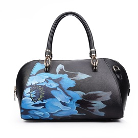 Transverse Flower Art Satchel