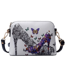 High Quality Color Block Print Crossbody Bag