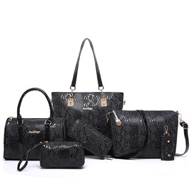 European Stylish Serpentine Embossed Bag Sets