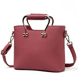Ladylike Stereo Pure Color Women Satchel