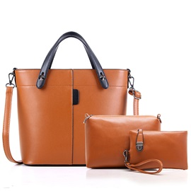 Simple England Solid Color Bag Sets
