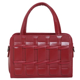 Stereo Fence Design Pleated Women Satchel