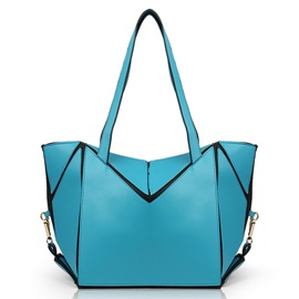 Geometrical Pattern Pure Color Women's Tote Bag