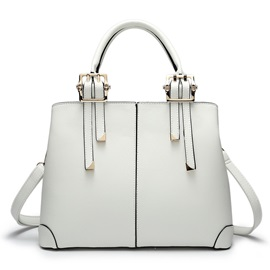 Chic Buckle Decorated Pure Color Women's Tote Bag
