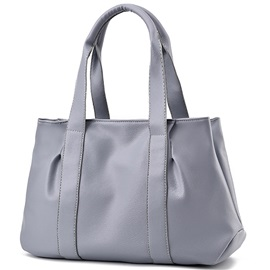 Soft Leather Zipper Tote Bag