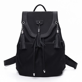 New PU Leather Patchwork Waterproof Backpack