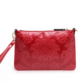 Vintage Pattern Zipper Women Crossbody Bag