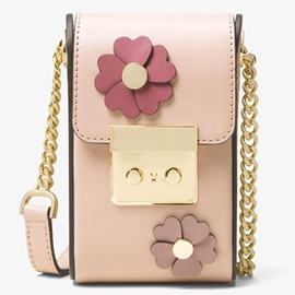 Stereo Floral Decorated Mini Crossbody Bag
