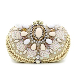 Deluxe Diamond and Sequins Decor Women Evening Bag
