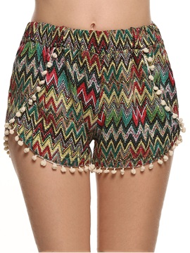 Multicolor Printing Waistband Short
