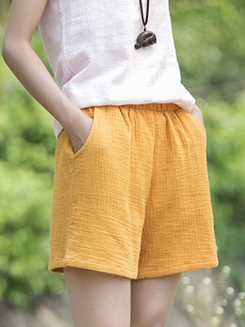 Candy Color Loose-Fit Shorts