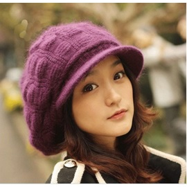 Multi Color Loveable Cony Hair Knitted Winter Hats