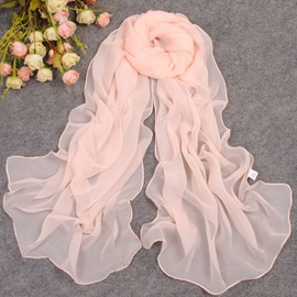 Solid Color Chiffon Summer Shawl/Scarf
