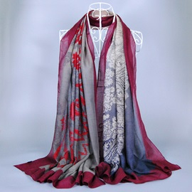 Vintage Pattern Printed Women's Voile Scarf