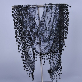 Hollow-out Triangle Shaped Lace Scarf