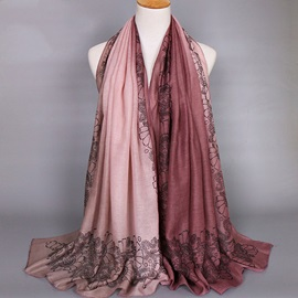 High Quality Gradient Color Voile Scarf