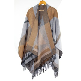 Fashion Geometric Pattern Tassels Shawl
