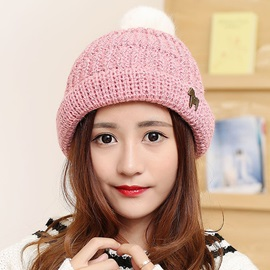 Sweet Pony Decorated Knitted Hat