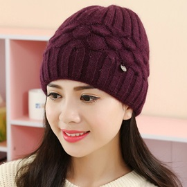 Fish Scale Knitted Design Warm Women's Hat
