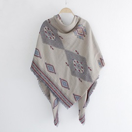 Square Thick Linen Scarf/Shawl
