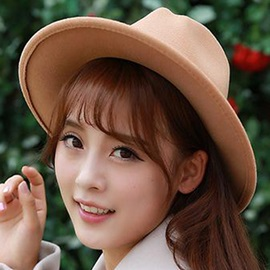 Double Leather Rope Design Women's Fedora Hat