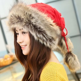 Pure Color Ethnic Style Knitted Hat