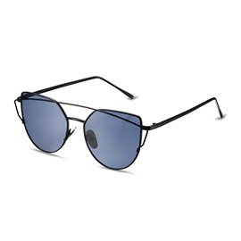 Black Frame Grey Mirror Lens Anti-UV400 Sunglasses