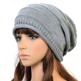 Knit Pleated Woolen Yarn Hat