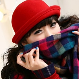 Candy Color Style Rolled Cuff Woolen Hats