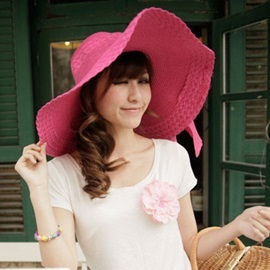 Bowknot Decorated Straw- Weaved Hat