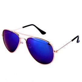 Fashion Oval Unisex Alloy Sunglasses