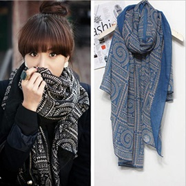 Hot Sale Retro Korean Style Plaid Cotton Shawl Scarf