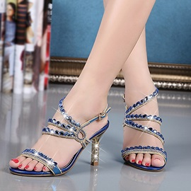 Elegant Crystal Buckle Sandals