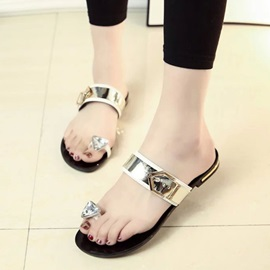 PU Buckles Ring-Toe Sandals