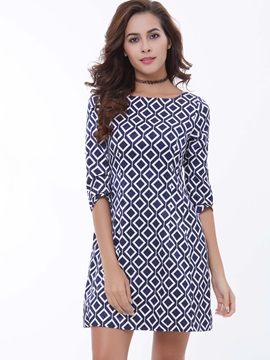 Chic 3/4 Sleeve Day Dress