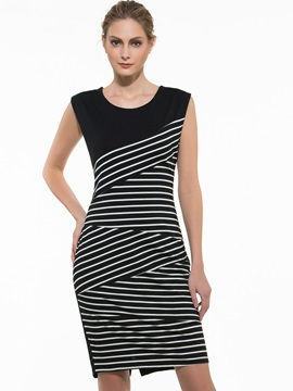 New Sensual Striped Women Dress